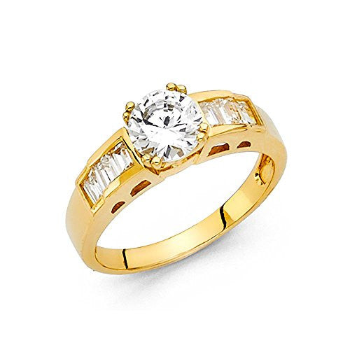 14K Yellow Gold - Round