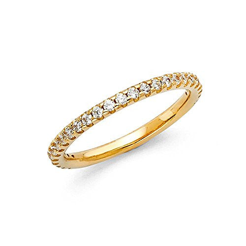 New-1.5mm-Solid-14k-Yellow-Gold-Roun-Cut-Pave-Set-Wedding-Band-Ring-(0.25-cttw.)