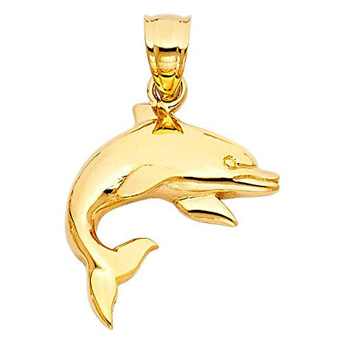 Yellow Gold Pendant - Dolphin Cut