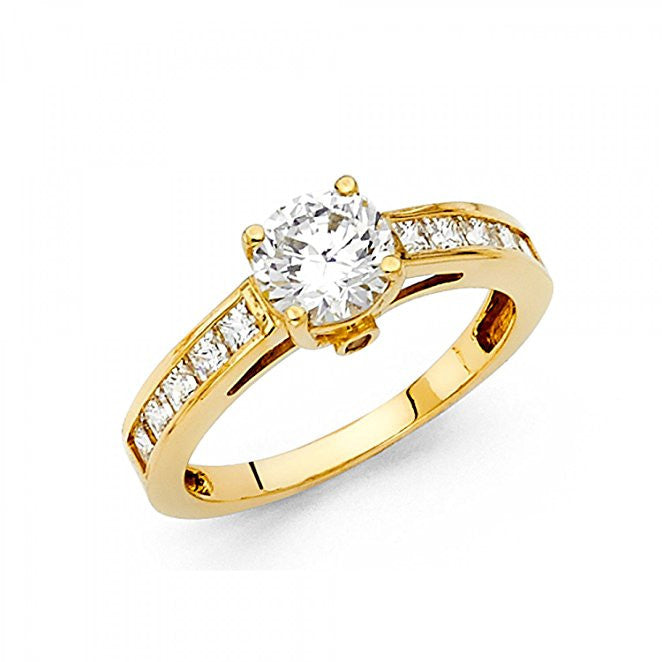 14K Yellow Gold Engagement Ring-14K