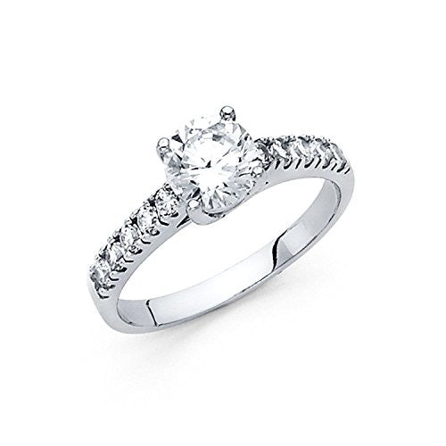 14k Solid White Gold - 14k