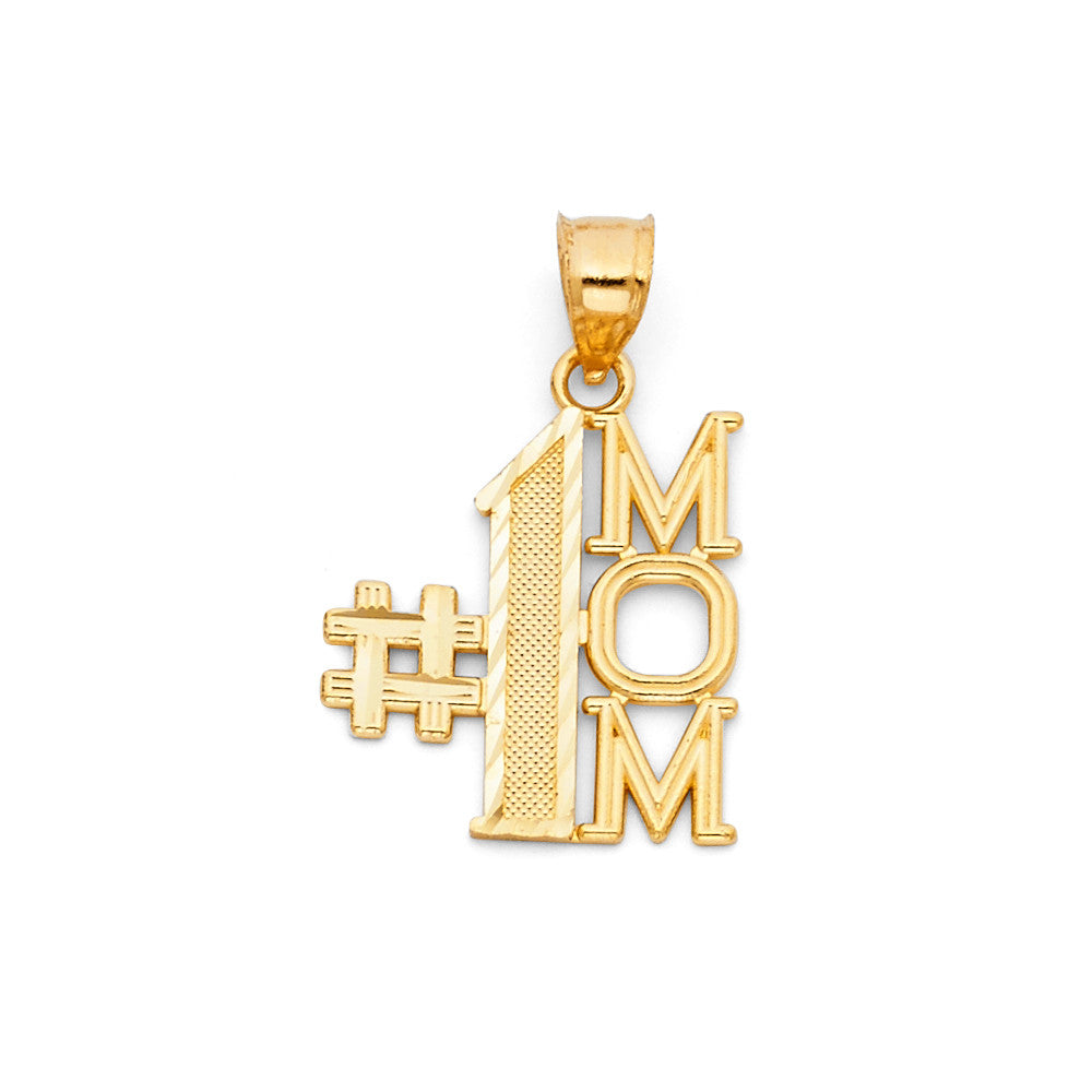 Mother's Day Pendant - 14k Yellow Gold