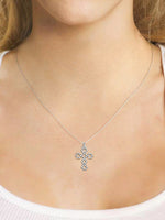 14K Solid White Gold - Pendant