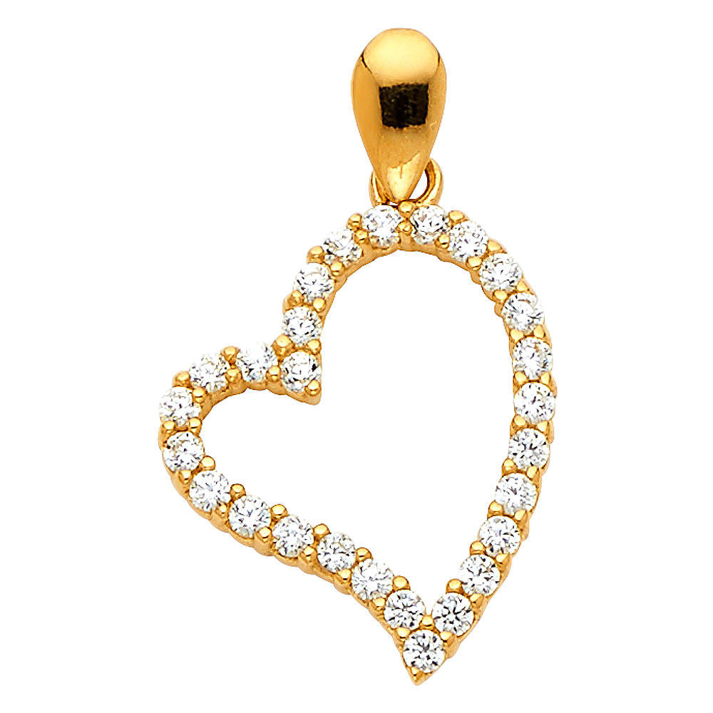 14k Gold pendant - Yellow Gold