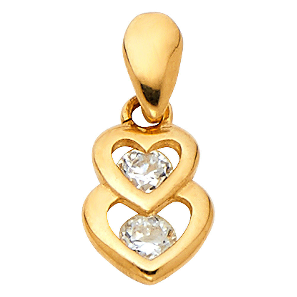 14k Yellow Gold- Heart Shaped