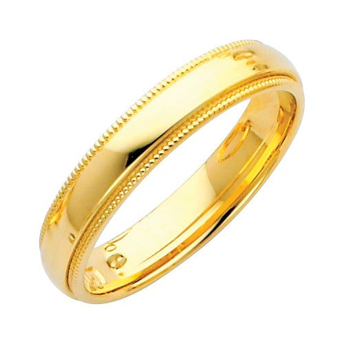 Wedding Band Rings - 14k