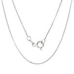 "Solid 0.8MM 10k White Gold Chain Necklace Box chain Pendant 16-24"" 10kt gold"