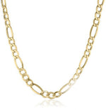 "Figaro Chain 14K Yellow Gold Necklace Men Women Necklace 4.35MM 20"" 22"" 24"""
