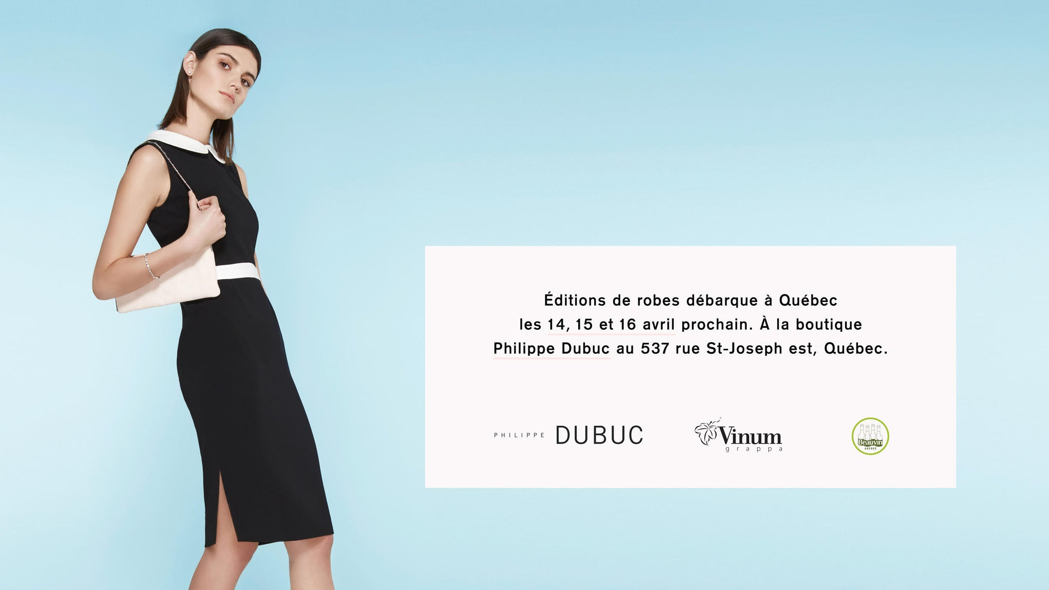EDITIONS DE ROBE POP UP QUEBEC