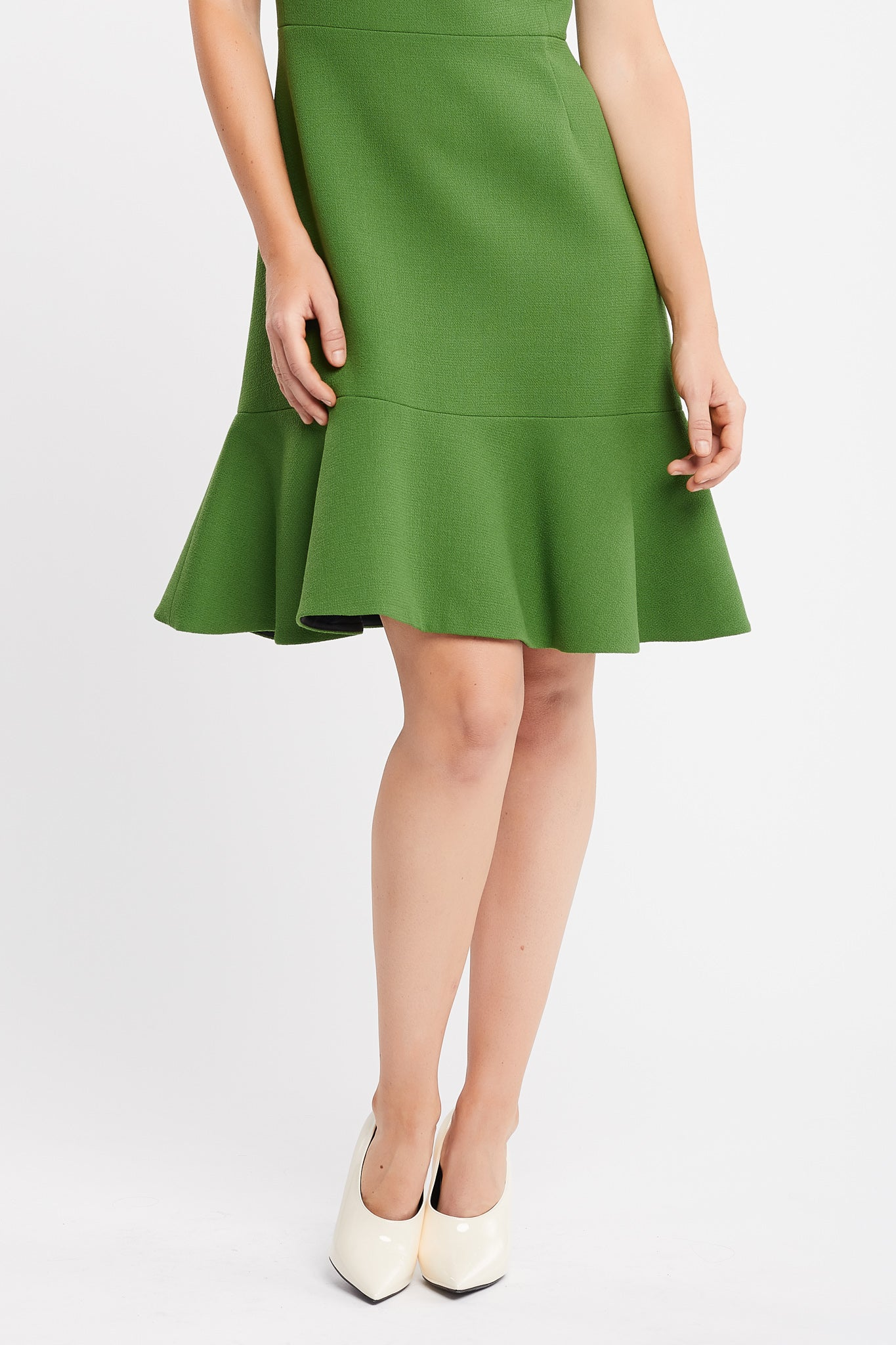 Alicia Short Sleeve A-Line Green Work Dress and Cocktail Dress