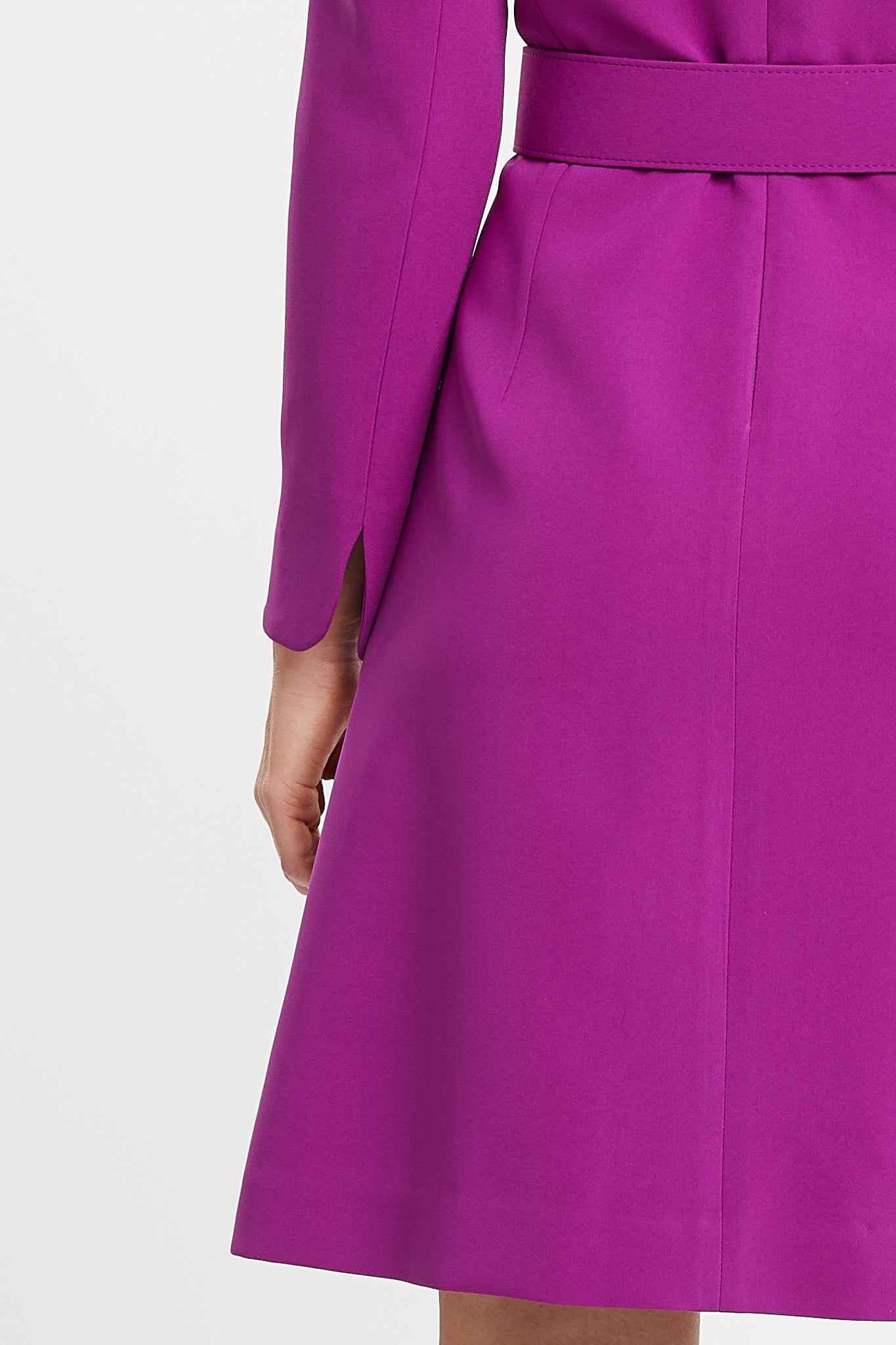 Amelia Long Sleeve A-Line Magenta Work Dress