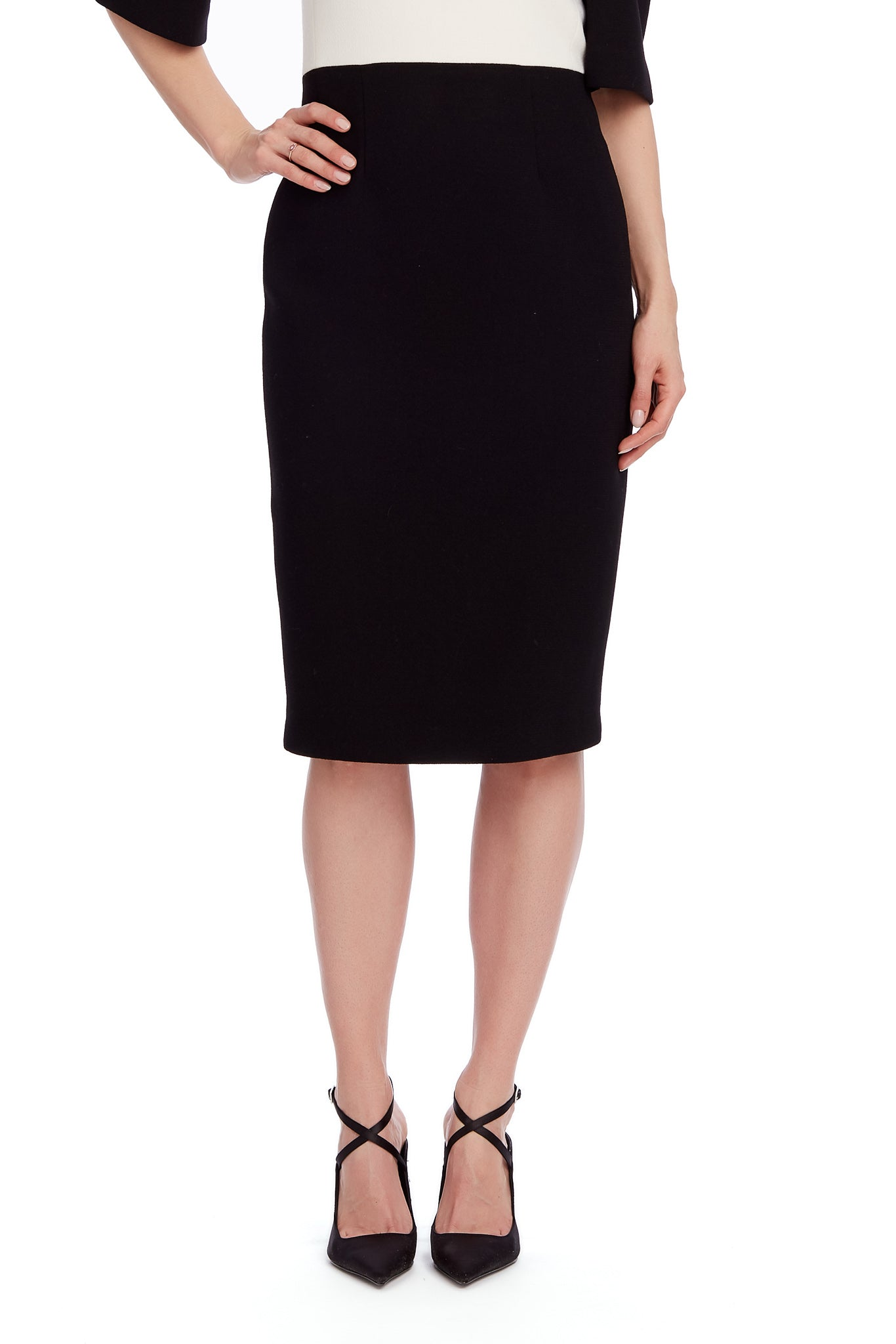 Betina Short Sleeve Sheath Bicolor Work and Cocktail Dress