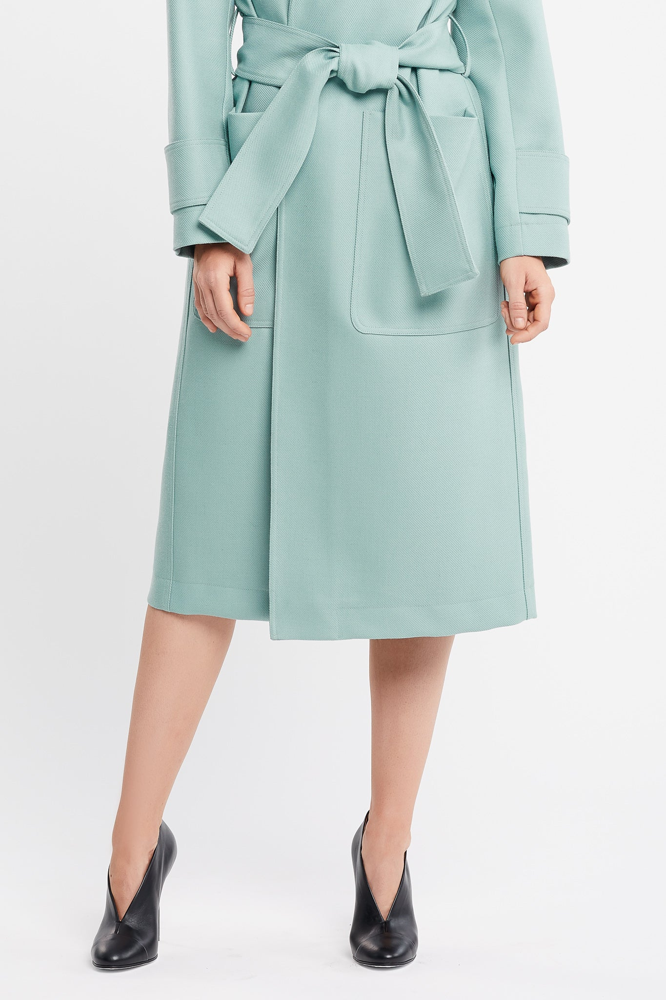 Claude Long Sleeve Aqua Coat