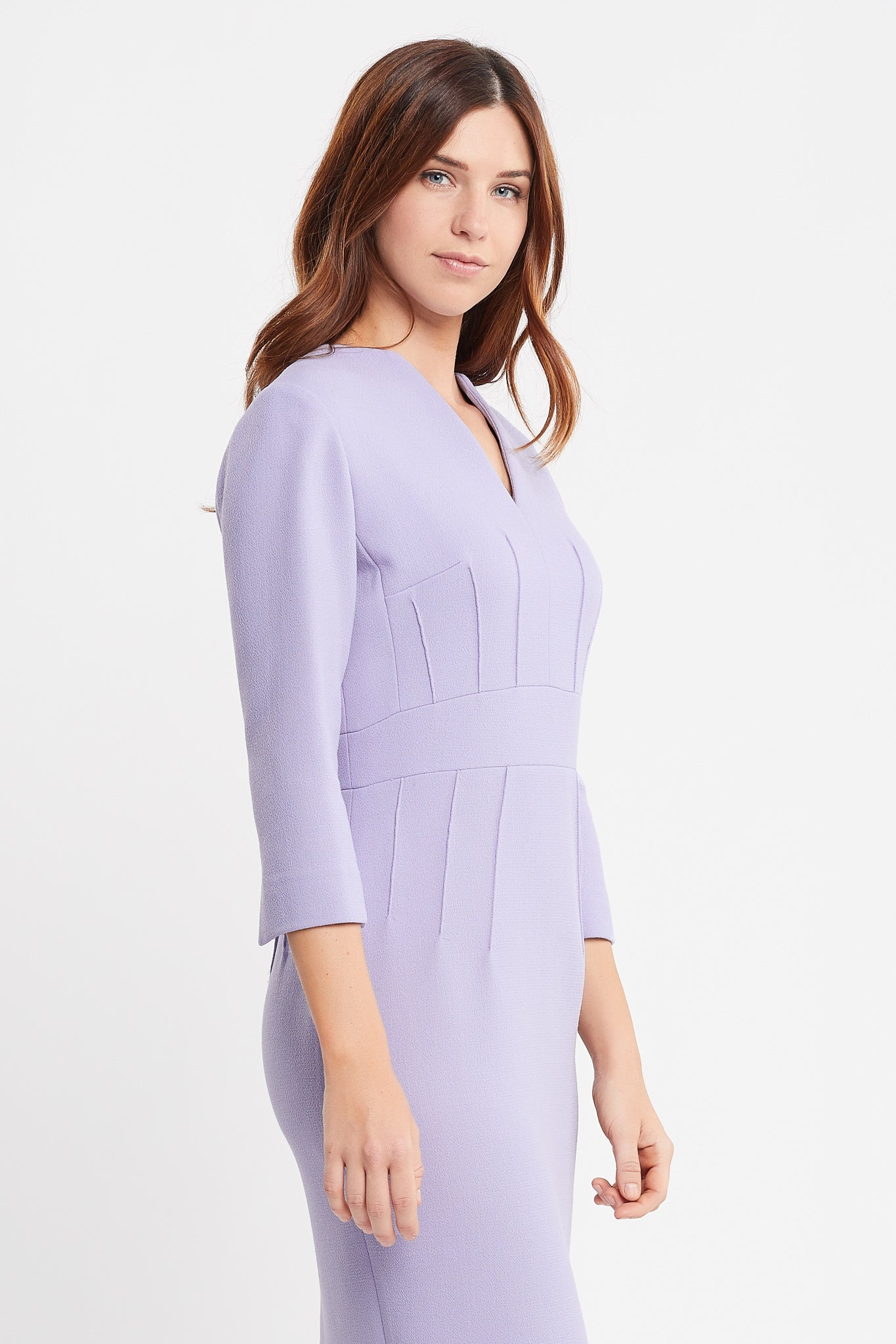 Dalila 3/4 Sleeves Sheath Lilac Work and Cocktail Dress