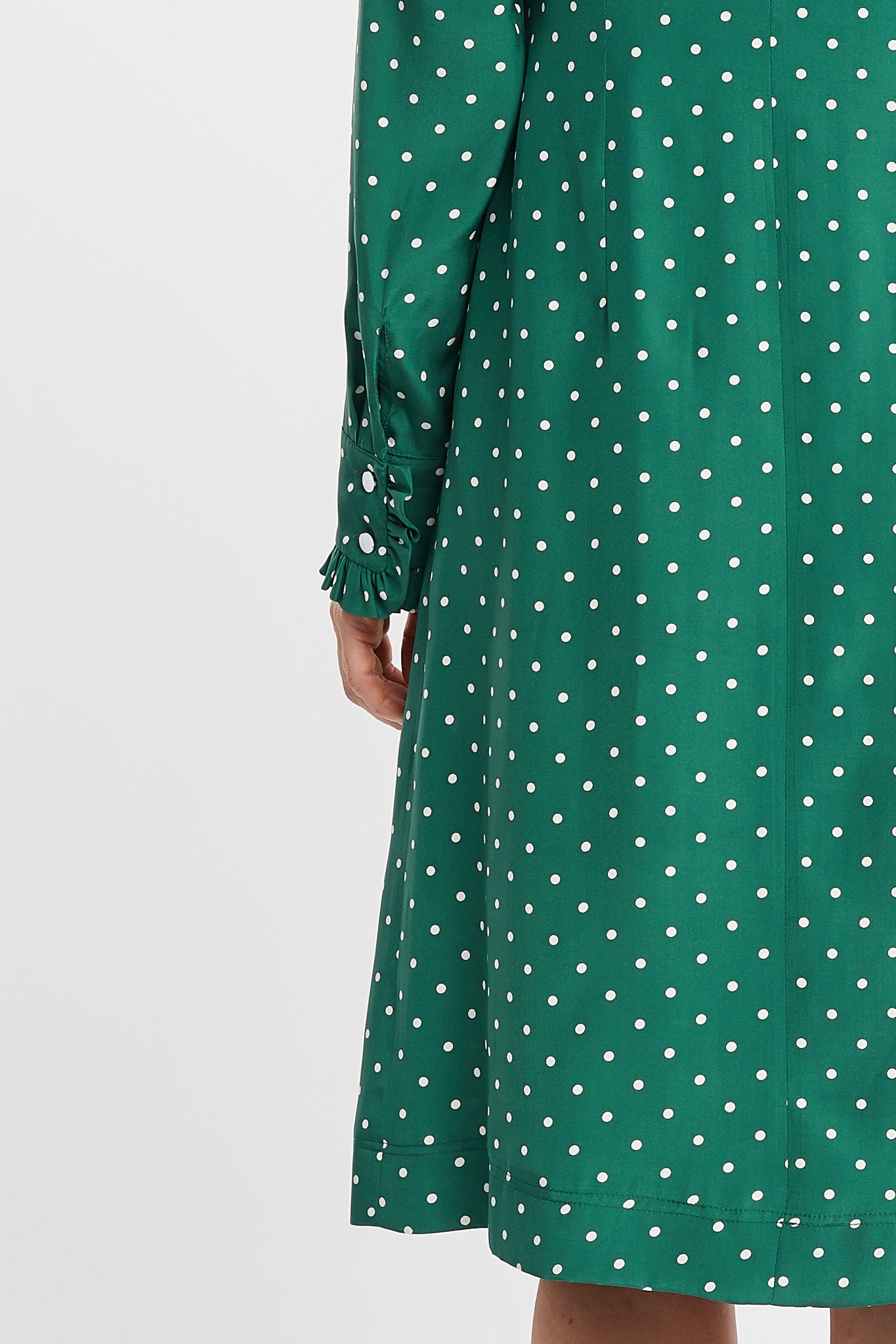 Dakota Long Sleeve Sheath Emerald dot Work and Cocktail Dress