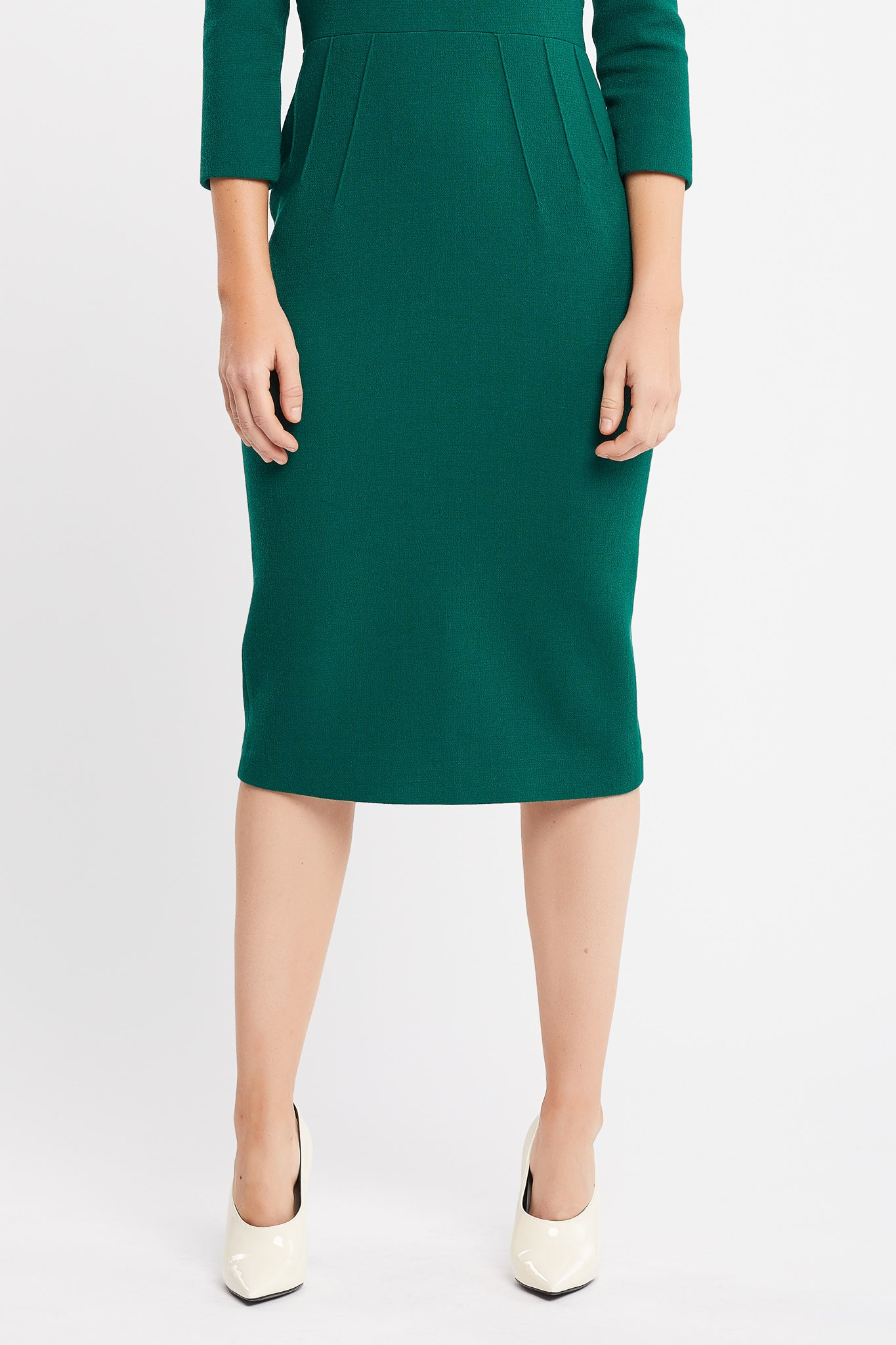 Dalila 3/4 Sleeves Sheath Emerald Work and Cocktail Dress