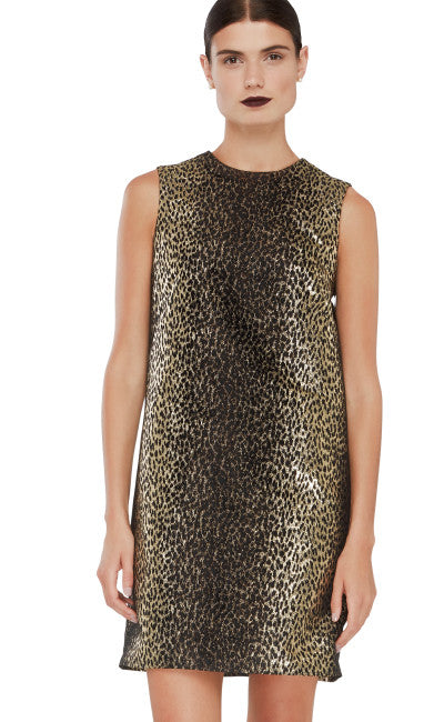 editions de robes fall winter 2016 collection clarisse cocktail gold leopard print dress