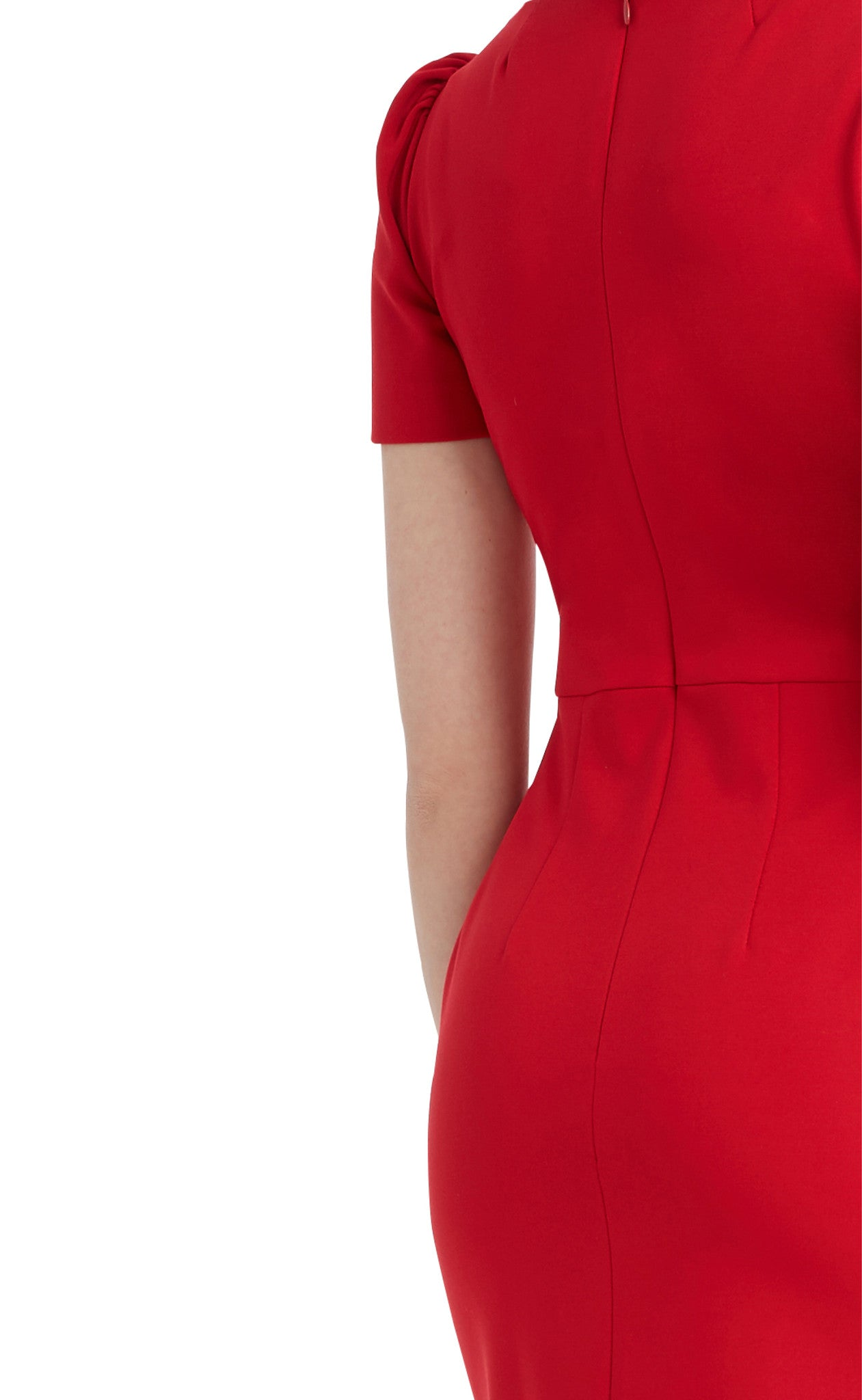editions de robes SS17 collection work sandrine red dress