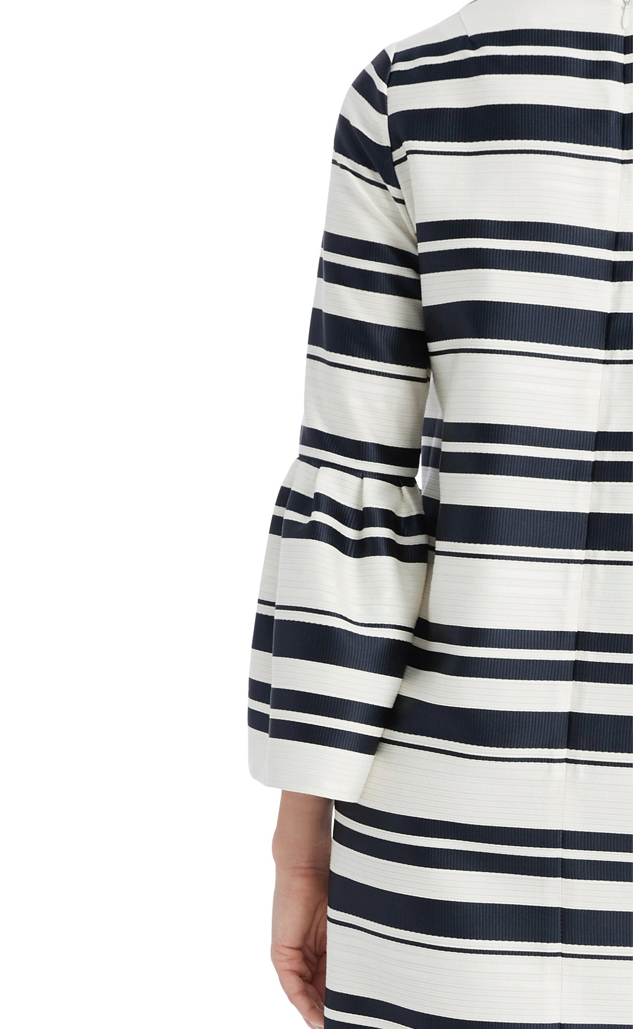 editions de robes SS17 collection cocktail mariette navy and ecru stripes dress