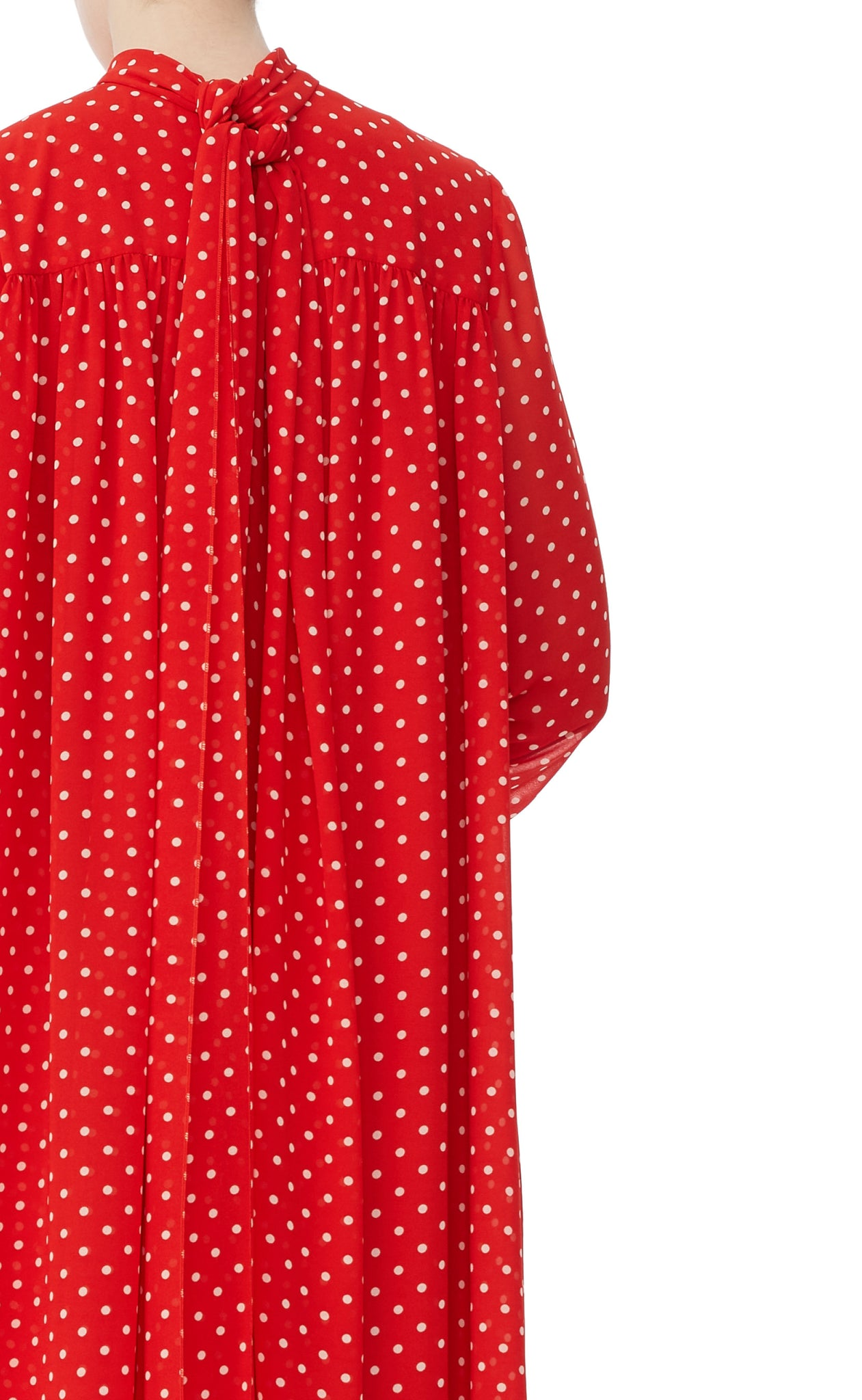 editions de robes SS17 collection cocktail Joline red and white dot dress