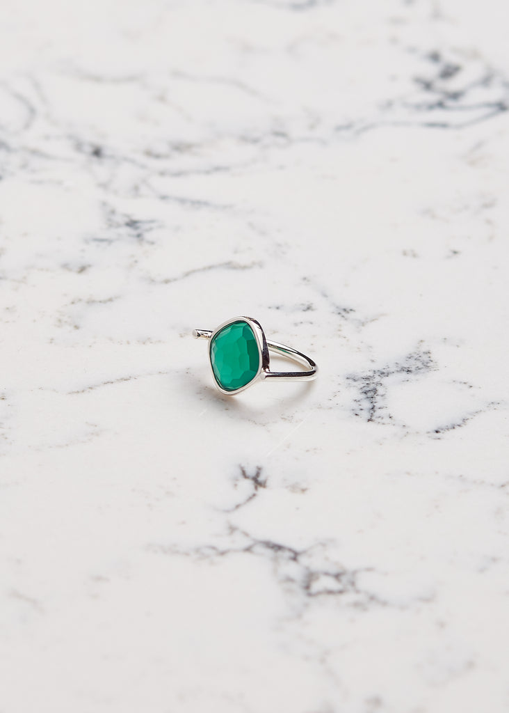 Ring Green Chalcedony | Bague Calcédoine verte