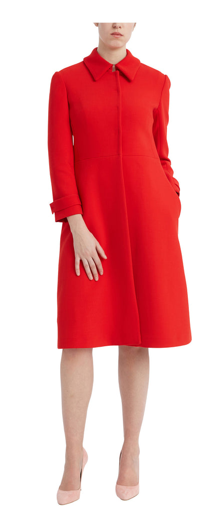 editions de robes SS17 collection work and cocktail marie-claude red coat
