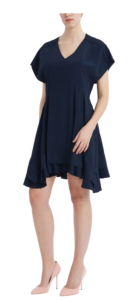editions de robes SS17 collection cocktail ruby navy dress