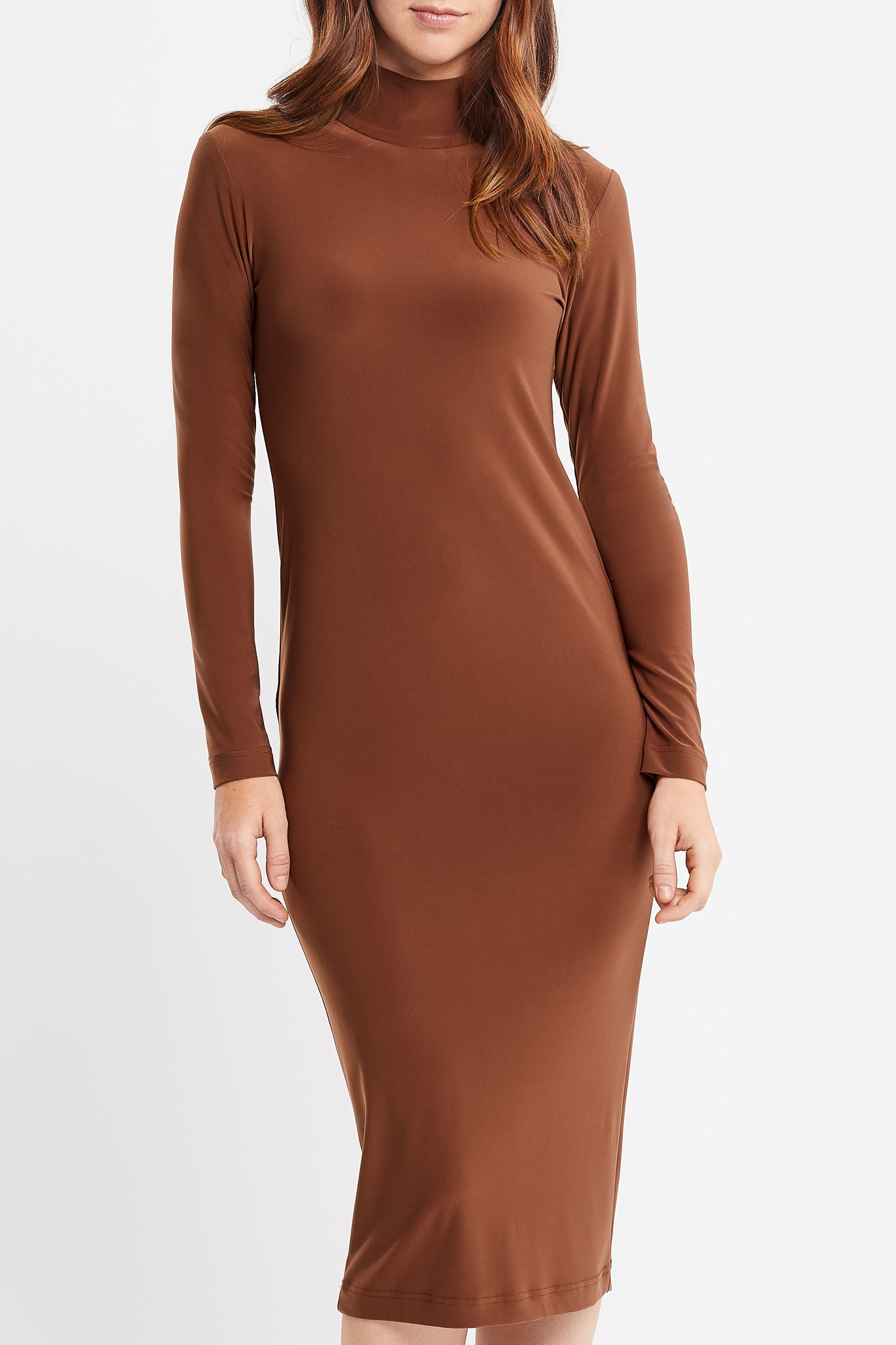 Hanne Long Sleeve Day Dress in Camel