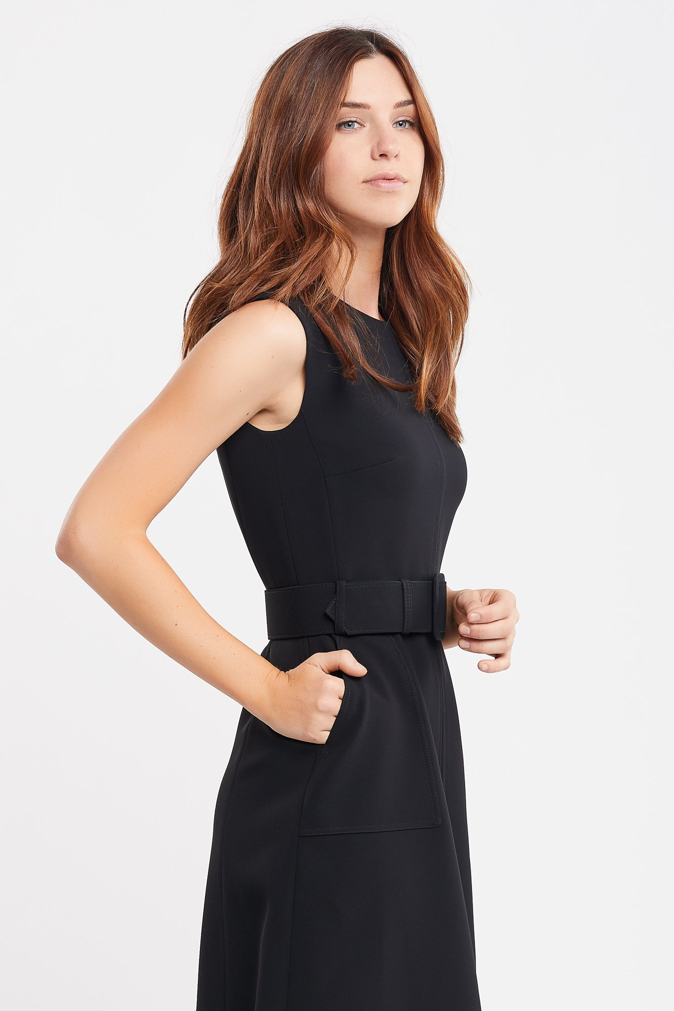 Jordanne Sleeveless A-line BlackWork and Cocktail Dress