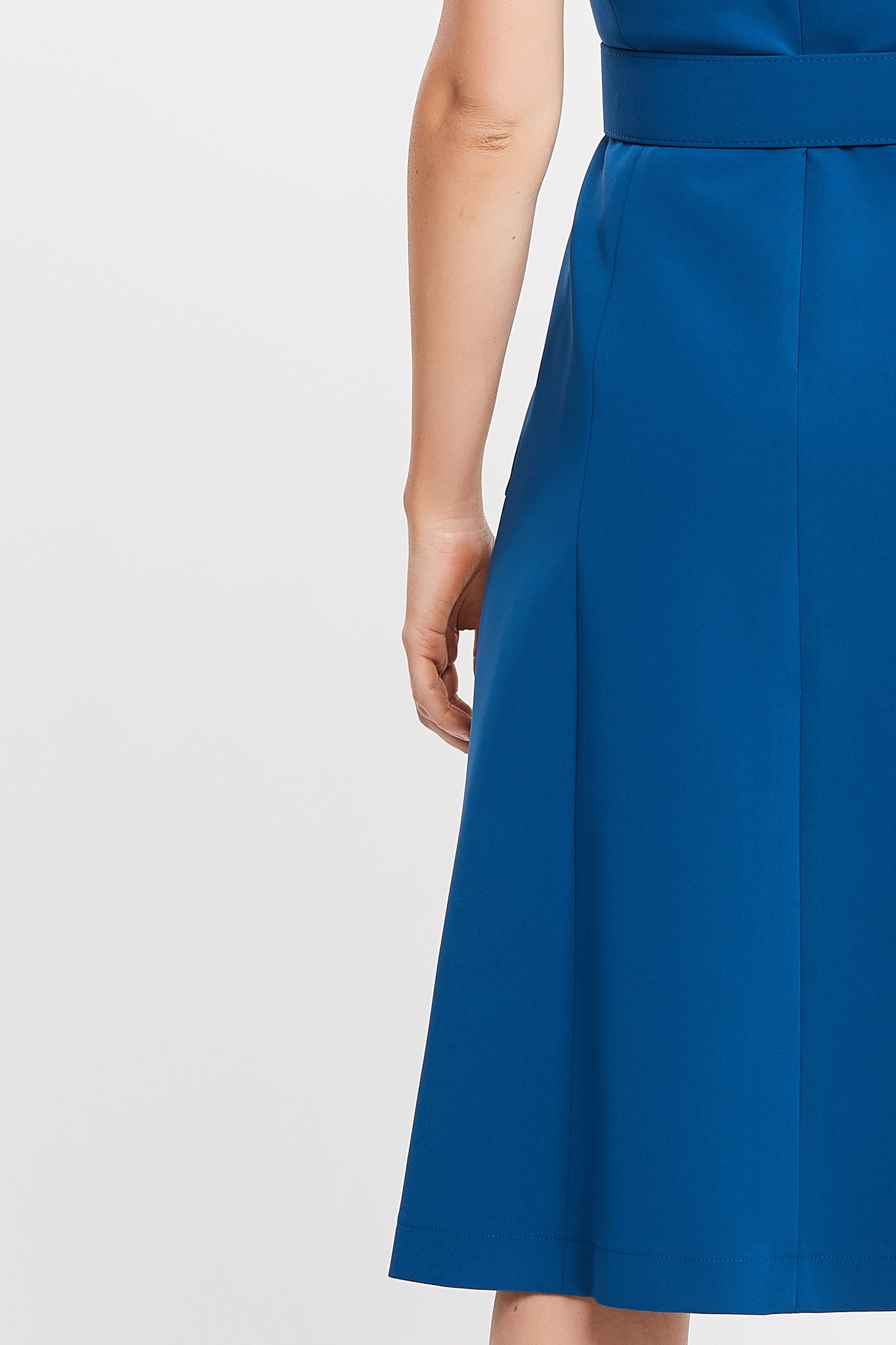 Jordanne Sleeveless A-line Blue Work and Cocktail Dress