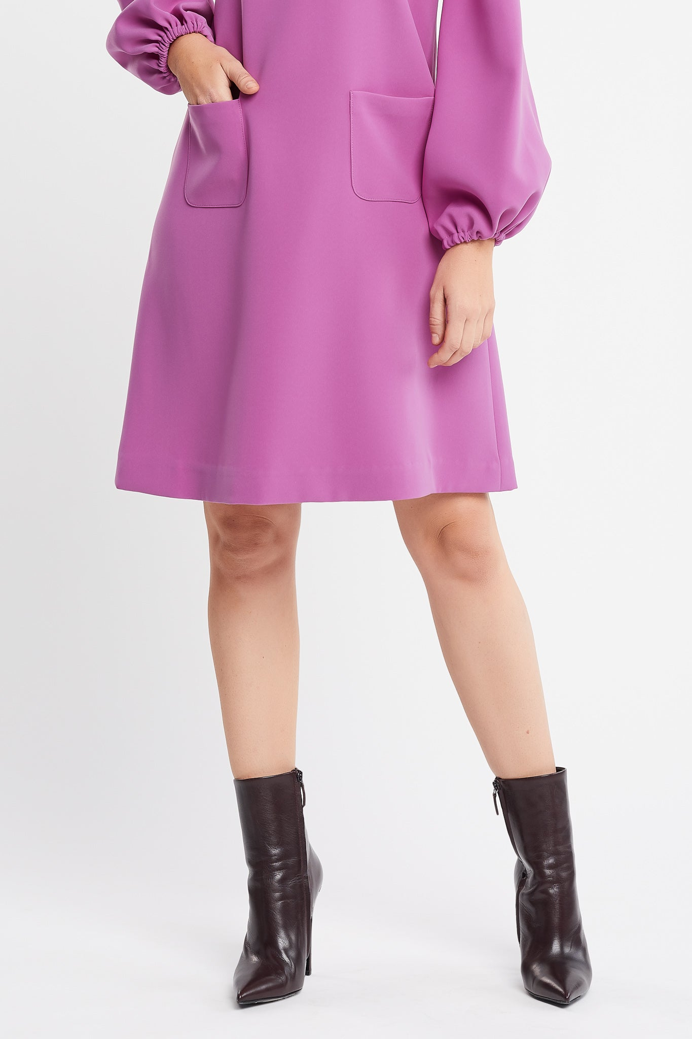 Karima Long Sleeve A-line Pink Work and Cocktail Dress