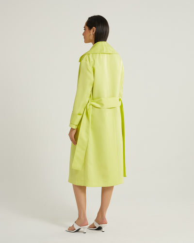 Claude Long Sleeve Neon Oversized Trench Style Coat