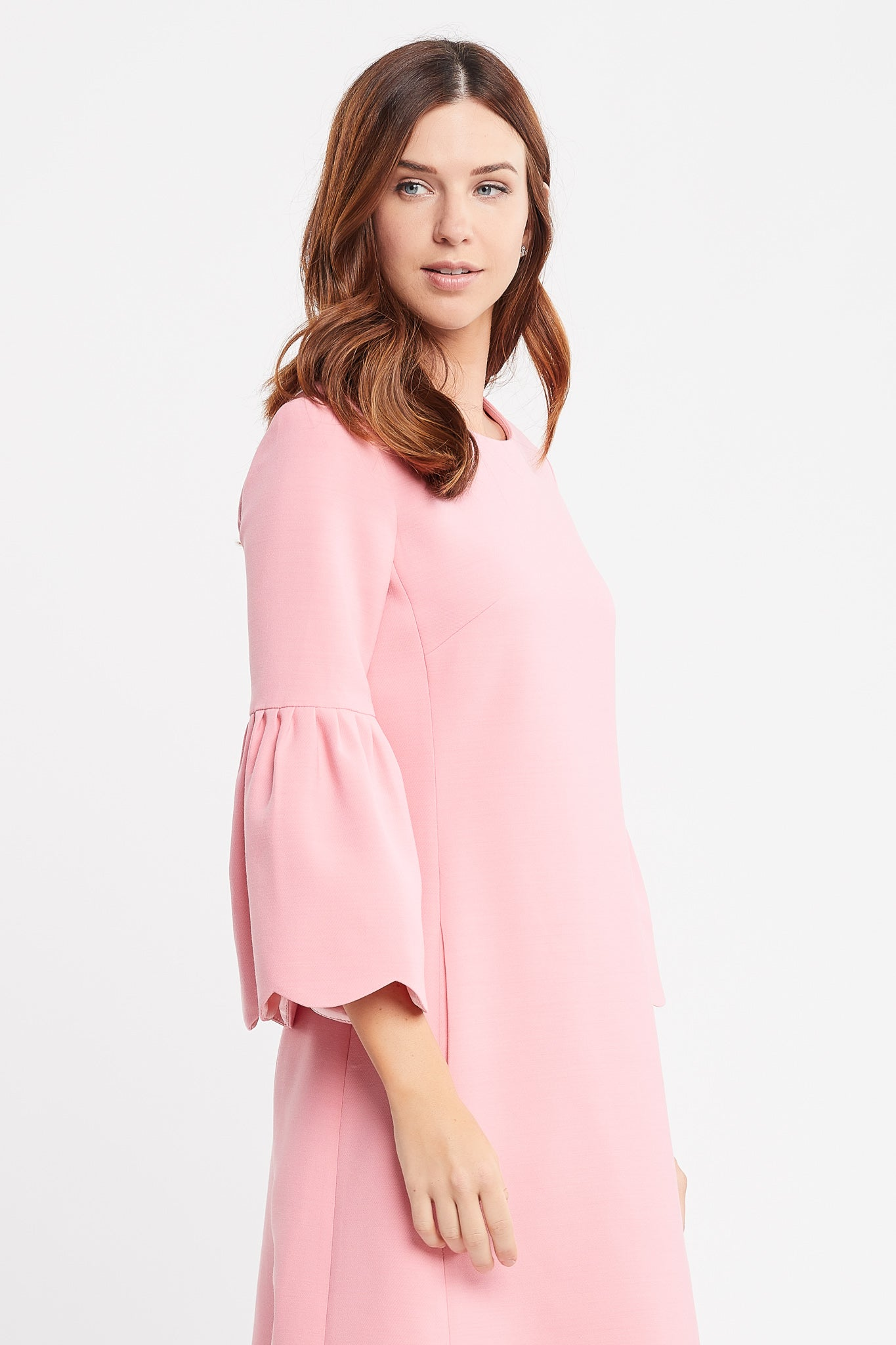 Renee 3/4 Sleeves A-line Pink Cocktail Dress