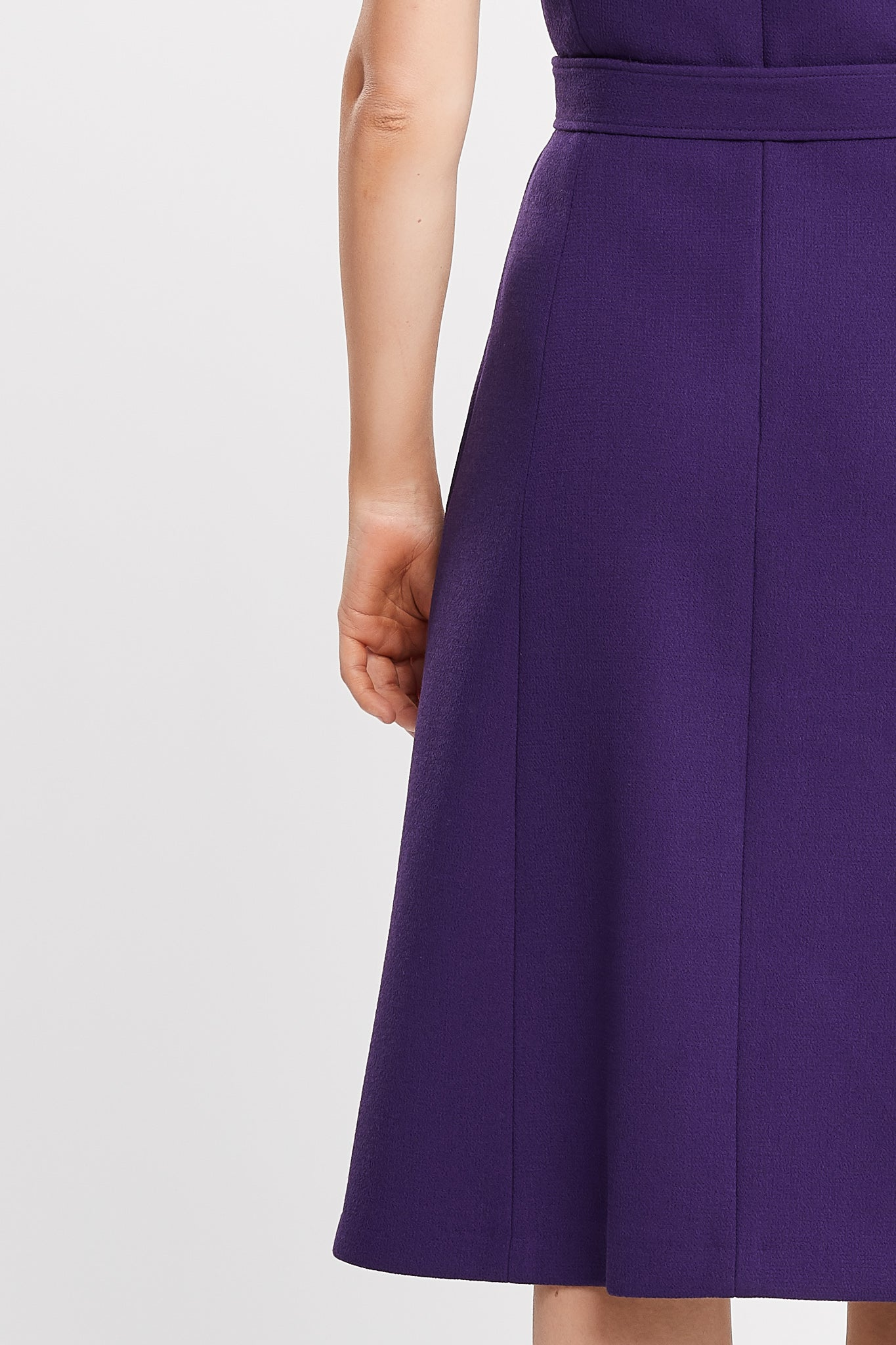 Rita Short Sleeve A-line Purple Work and Cocktail Dress