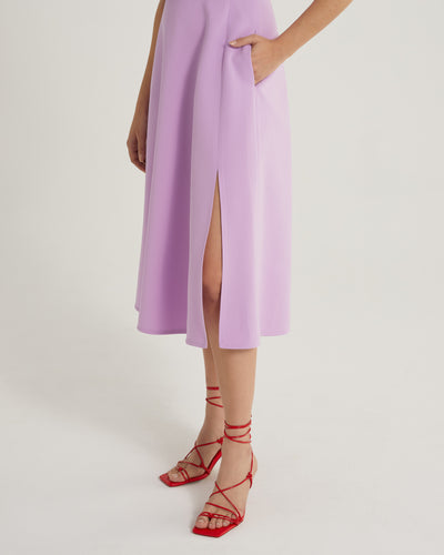 Shiraine american armhole lilac work and cocktail dress