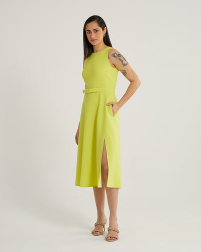 Shiraine american armhole lime work and cocktail dress