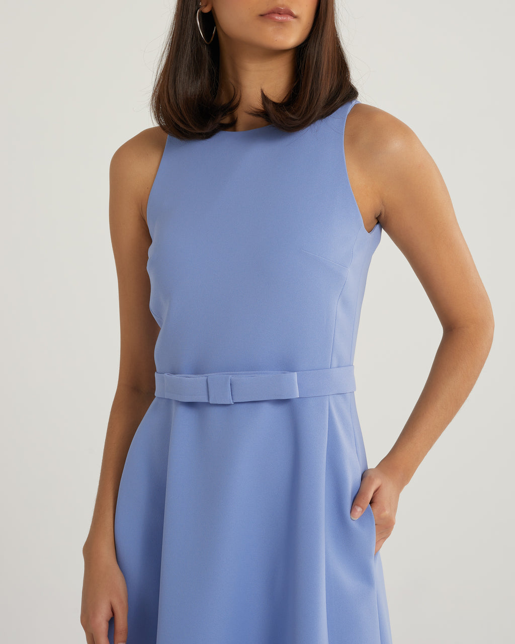 Shiraine american armhole blue work and cocktail dress
