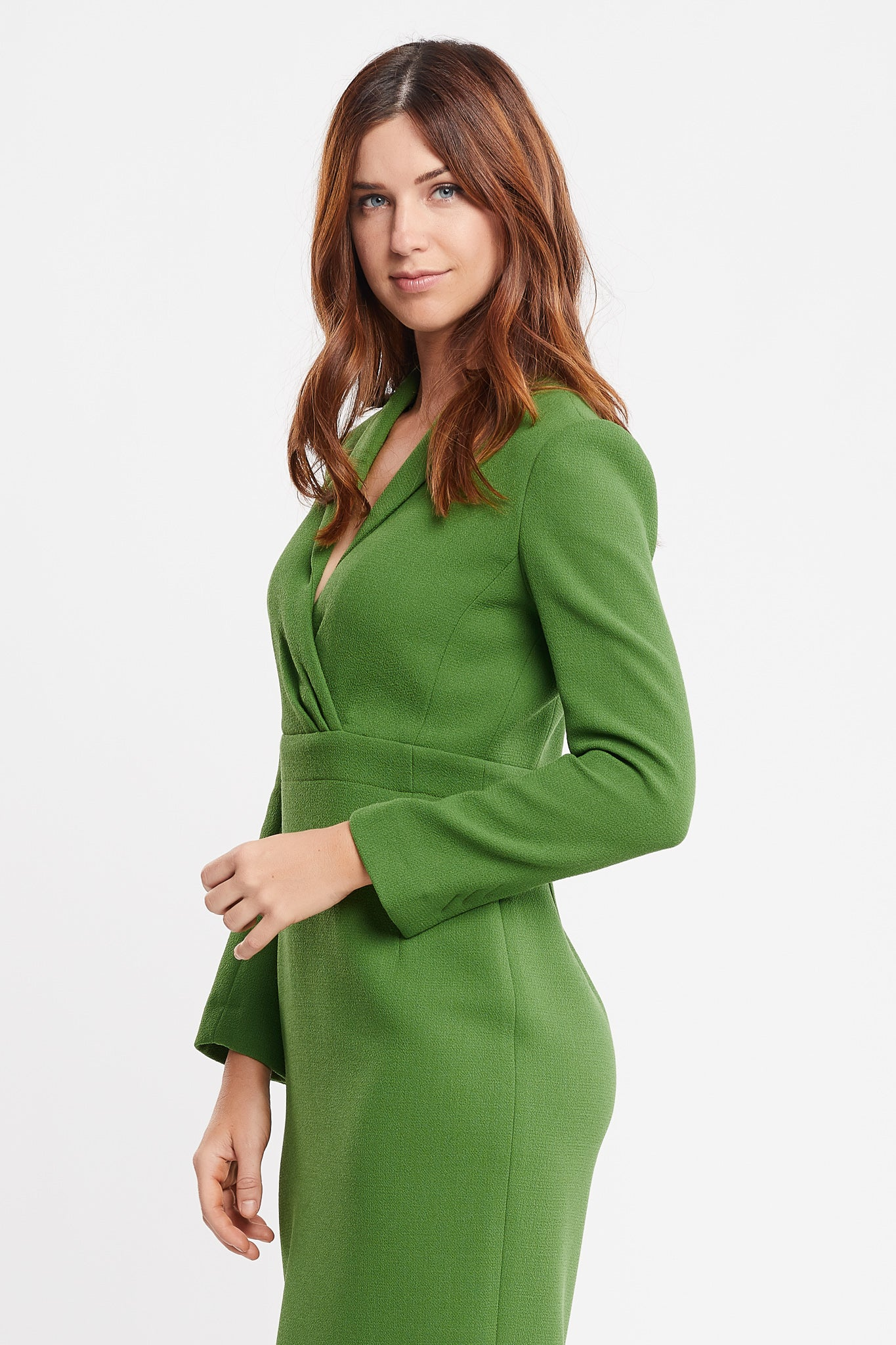 Sandra Long Sleeve Sheath Green Work and Cocktail Dress