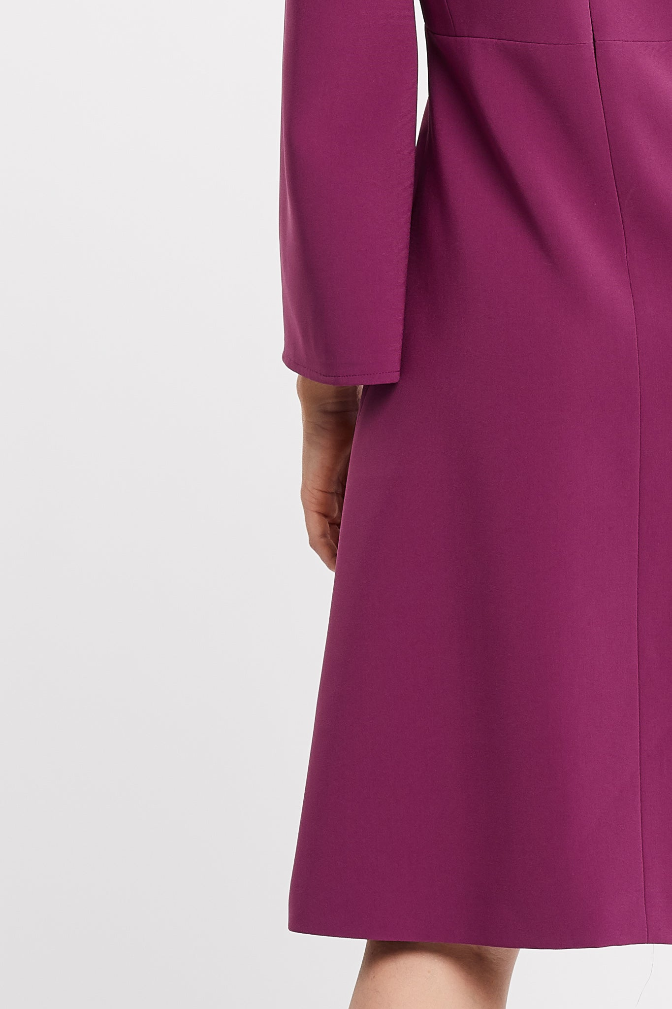 Vamilla Long Sleeve Flared Skirt Pink Work and Cocktail Dress