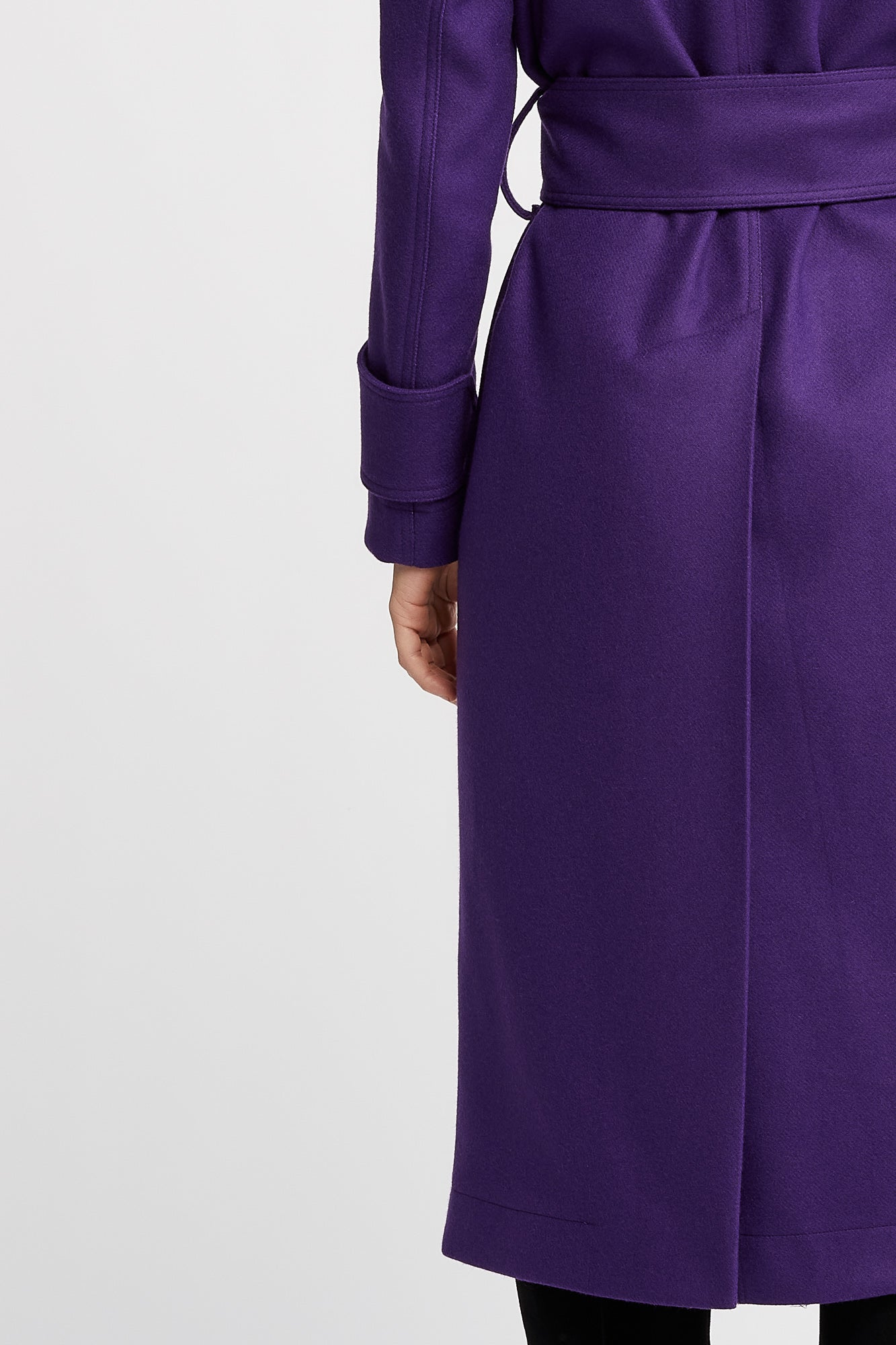 Claude Long Sleeve Purple Oversized Trench Style Coat