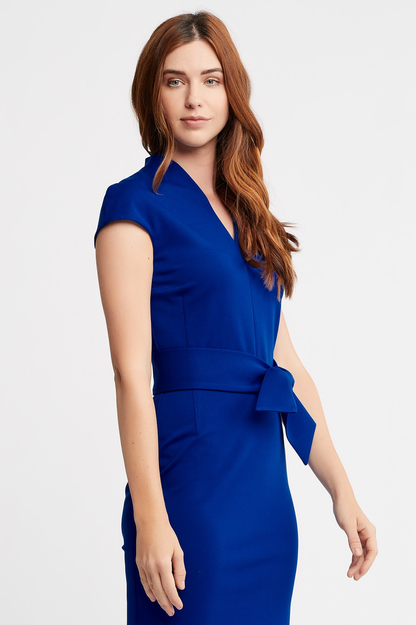 June Cap Sleeve Sheath Cobalt Work and Cocktail Dress.