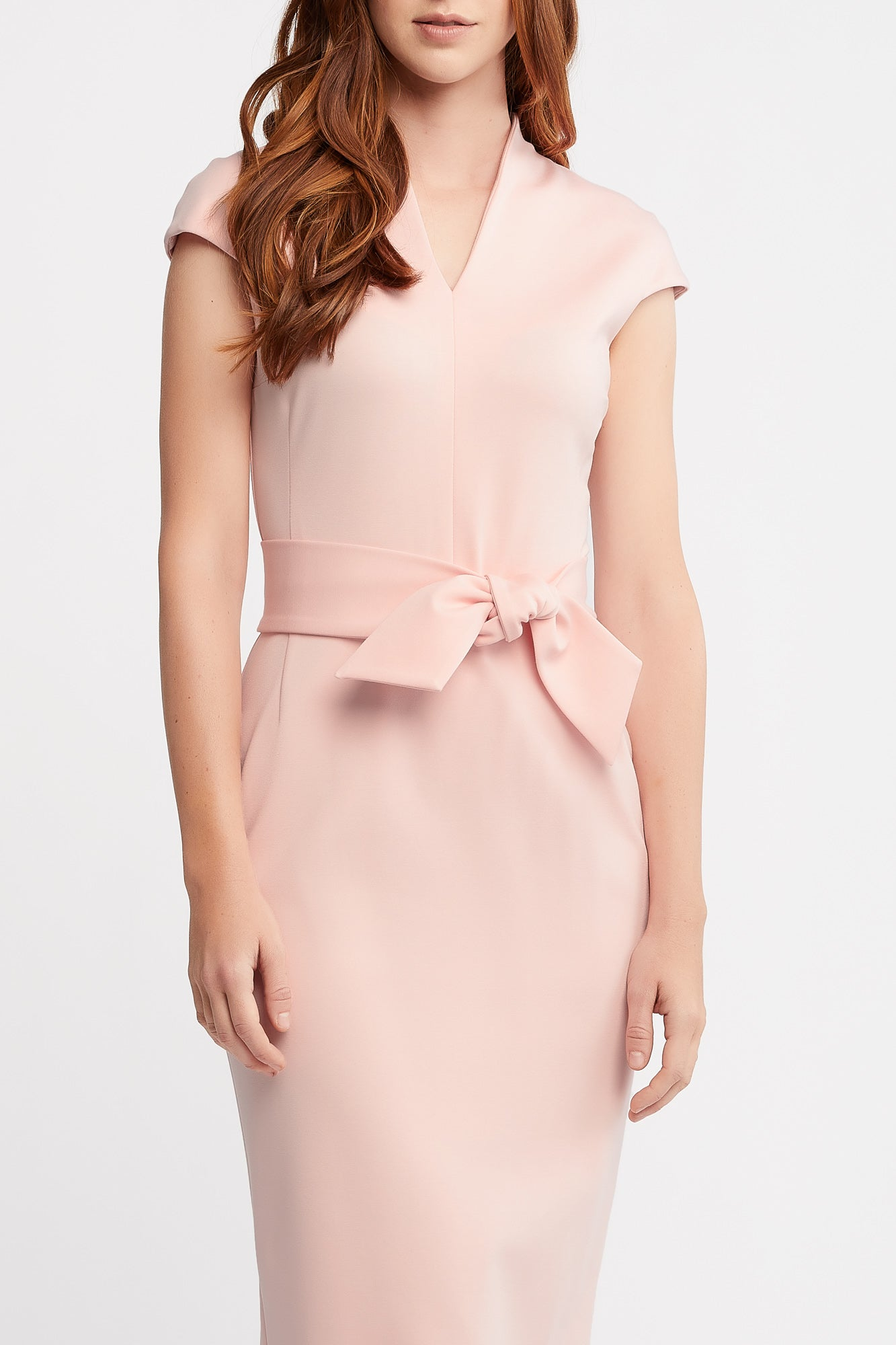 June Cap Sleeve Sheath Pink Work and Cocktail Dress.
