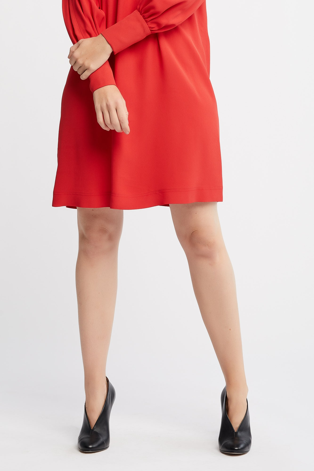 Kiki Long Sleeve Short Day dress, Work dress and Cocktail Dress in Orange