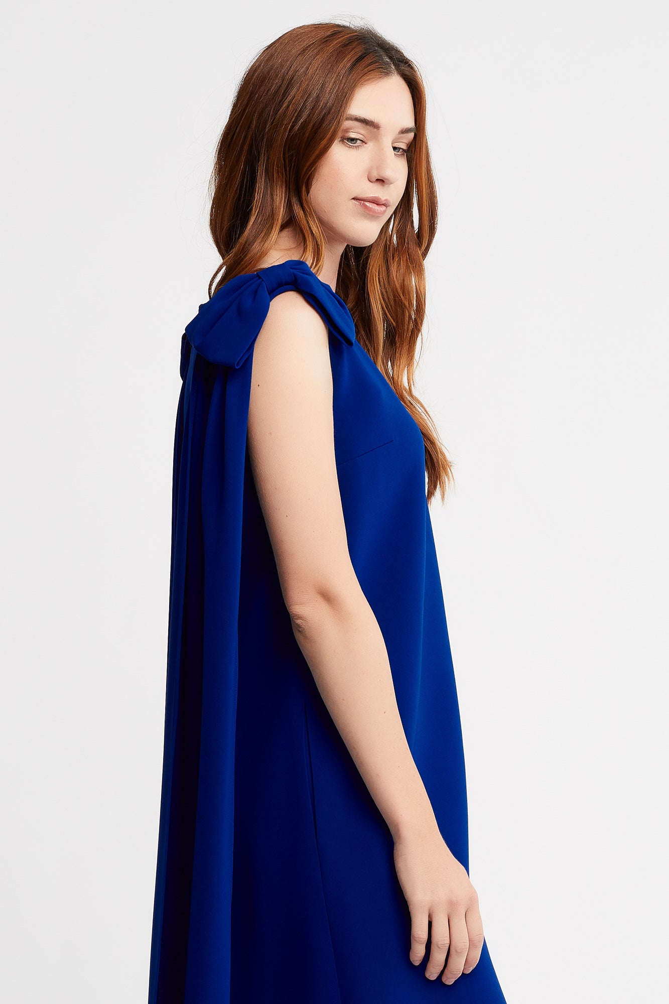 Marina-Rose Sleeveless Cocktail Dress in Cobalt with Bows