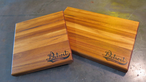 Detroit Motion Co. Handcrafted Cutting Board - Goncalo Alves (Tigerwood)