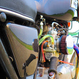 Carbon Fiber Triumph Side Cover -- (Oil-in-Frame) 1971-1983 Triumph Motorcycle Air Cleaner