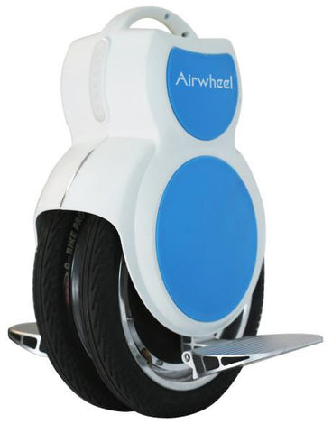 Q6 170wh Unicycle White and Blue