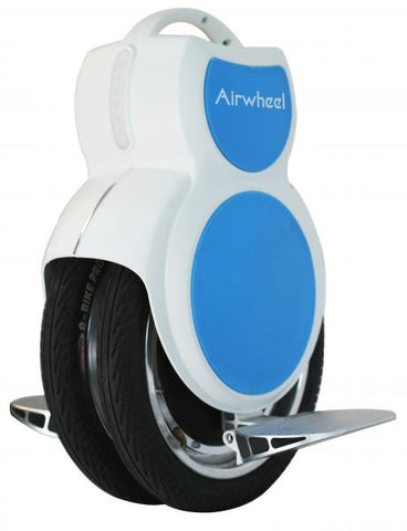 Q6 340wh Unicycle White and Blue
