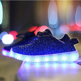 "LED Black ""L-E-D-Zus"" Shoes Laced Low Top"