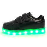 LED Black Shoes (Kids) Low Top